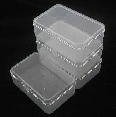 Transparent Clear Safe Tool box Electronic Component storage Case Container S