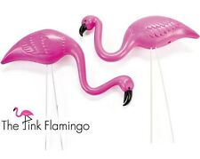 Pink Flamingo Mini Yard Ornaments (1 Box of 2) Flocking Lawn Decoration