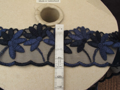 guipure-dentelle-Trim-Bleu Marine 10 mtrs of 50 mm-Wide-Pretty Floral