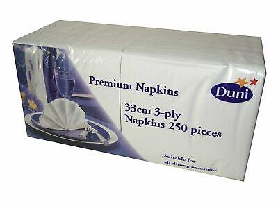 Duni Napkins White 33cm