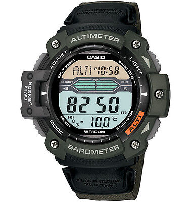 Casio SGW300HB-3AV, Twin Sensor Watch, Barometer, Altimeter, Thermometer,5 Alarm