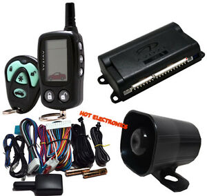 avital 3300 car alarm security system and 2 way lcd paging avital rh ebay com