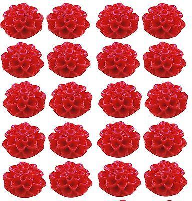 Mums Flatback fp 10 Pink Resin Cabochon Flowers Dahlias