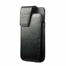 NIB Genuine BlackBerry ACC-49273-301 Z10 Leather Swivel Clip Holster Case Pouch