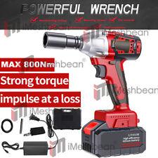 12 20v Brushless Impact Wrench Torque Rattle Gun Kit Electric Cordless Battery
