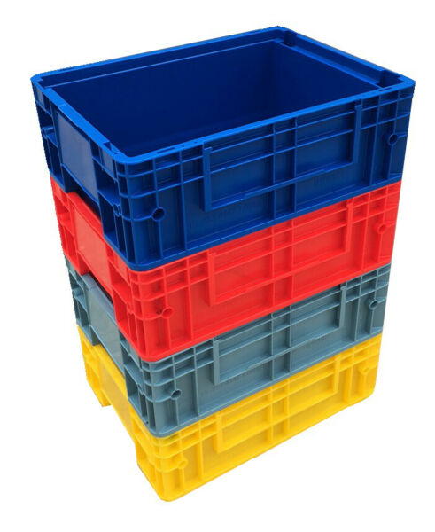 10 X 11.8 L Heavy Duty Plastic Stacking Euro Storage Klt Containers Boxes Crates