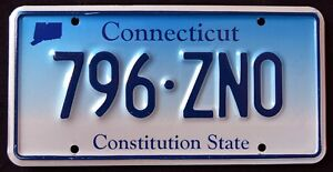 CONNECTICUT-034-CONSTITUTION-STATE-BLUE-MAP-796-ZNO-034-CT-Graphic-License-Plate