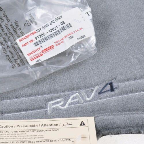 2001-2003 TOYOTA RAV4 GRAY CARPET FLOOR MATS GENUINE TOYOTA PT208-42021-03