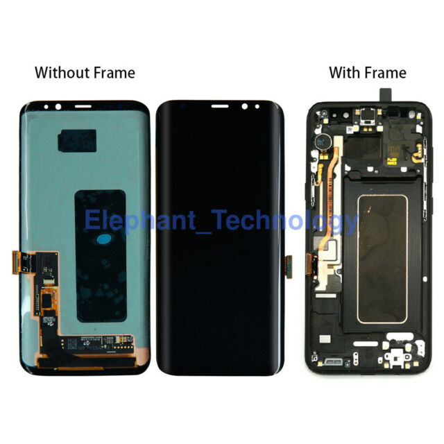 QC For Samsung Galaxy S7 | S8 | S8 Plus I S9 LCD Touch Screen Digitizer + Frame