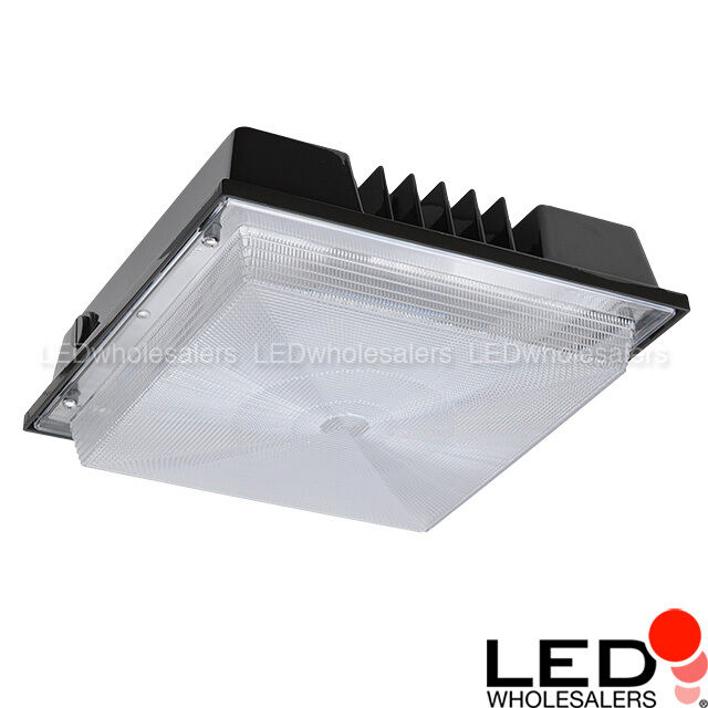 LEDwholesalers 80-watt Outdoor LED Canopy Ceiling Light Fixture Ul-listed R2 10 for sale online | eBay  sc 1 st  eBay & LEDwholesalers 80-watt Outdoor LED Canopy Ceiling Light Fixture Ul ...