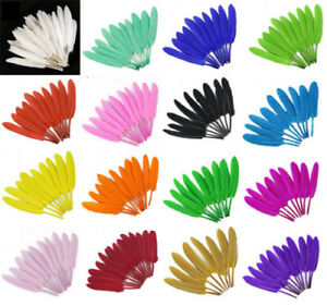 Details Zu 50pcs 6 8inches Quality Natural Goose Feathers For Crafts Diy Jewelry Decoration
