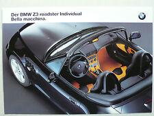 PROSPEKT BMW Z 3 ROADSTER individual bella macchina (1.8/2.8), circa 1998, 2 pag.