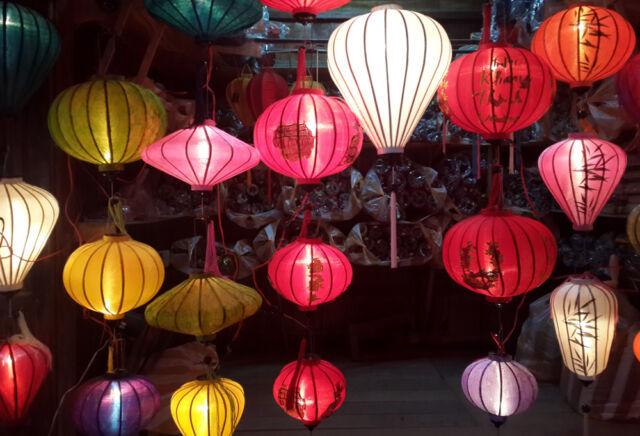 Lot 4 Silk Lanterns for wedding decor - Home decor- Vietnam silk lanterns