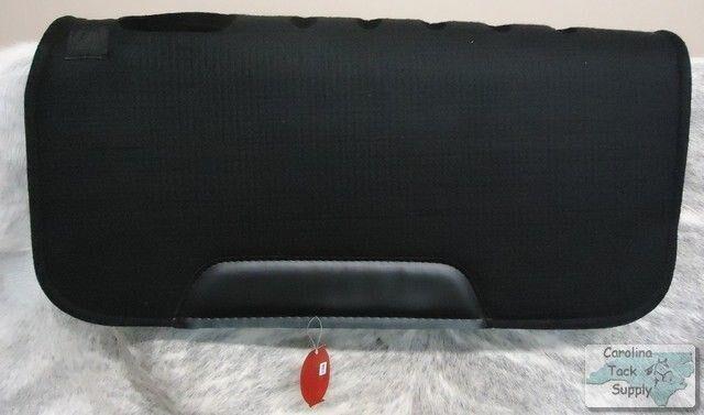 Showman 31 x31  Negro Fieltro Cojín con ventilación con desgaste Cueros    nuevo Tachuela del caballo