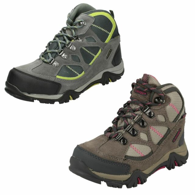 8e692191092 Hitec Junior Childs Boys Girls Renegade Trail WP Waterproof Walking Hiking  BOOTS J10