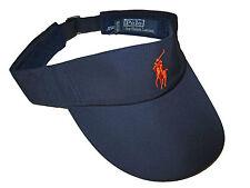 Polo Ralph Lauren Navy Blue Orange US Open Golf Tennis Visor Hat Cap