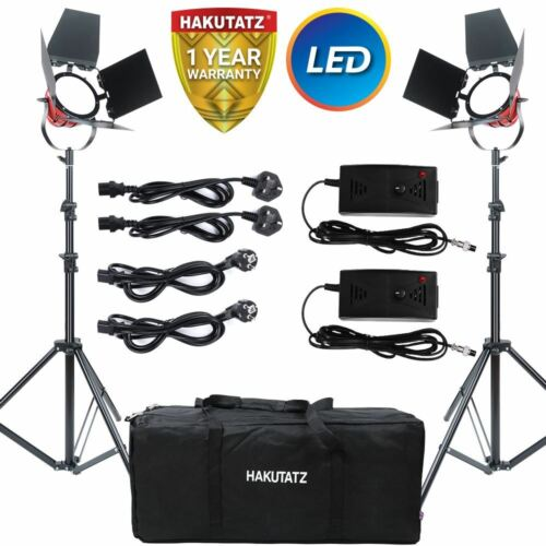 Kit de Iluminación continua de cabeza roja LED 650W 5400K Luz de vídeo con puertas de granero