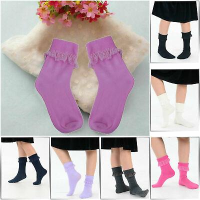 adam /& eesa 6 paia di calzini da scuola in pizzo bianco con volant per donna e ragazza 3 stili
