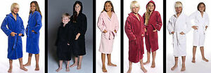Hooded Velour Terry Kids Bathrobe Robes for Girls and Boys, embroidery available