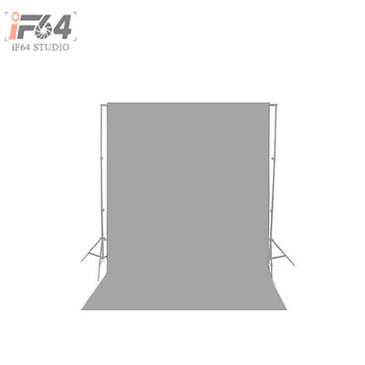 NEW 10×10ft / 3×3M Solid Grey Seamless Muslin Photography Backdrop Background