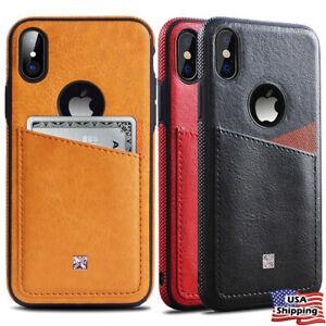 Mince-Slim-Portefeuille-Cuir-dos-fente-pour-carte-Cover-Case-Pour-iPhone-XS-MAX-XR-8-7-plus