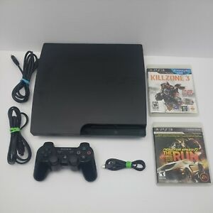 Sony PlayStation 3 PS3 Slim Bundle 160gb With 2 Games Tested - CECH-3001B