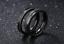 Coppia-fedine-nero-acciaio-satinate-brillantini-personalizzabili-incisione-nomi miniatura 5