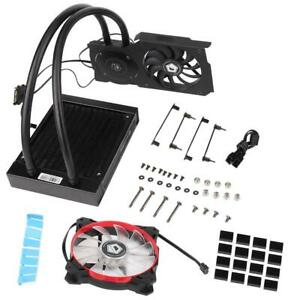 ID-COOLING-120VGA-Graphics-Card-Water-Cooler-CPU-Radiator-12CM-Cooling-Fan-MS