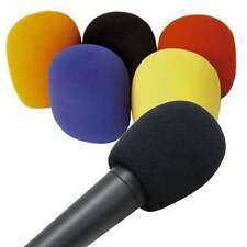 Soundlab Set of 5 Coloured Foam Windshields for Hand Held Microphones 35-50mm