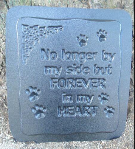 """Dog cat memorial plaque mold plaster concrete resin mould 11/"""" x 10/"""" x 3//4/"""""""