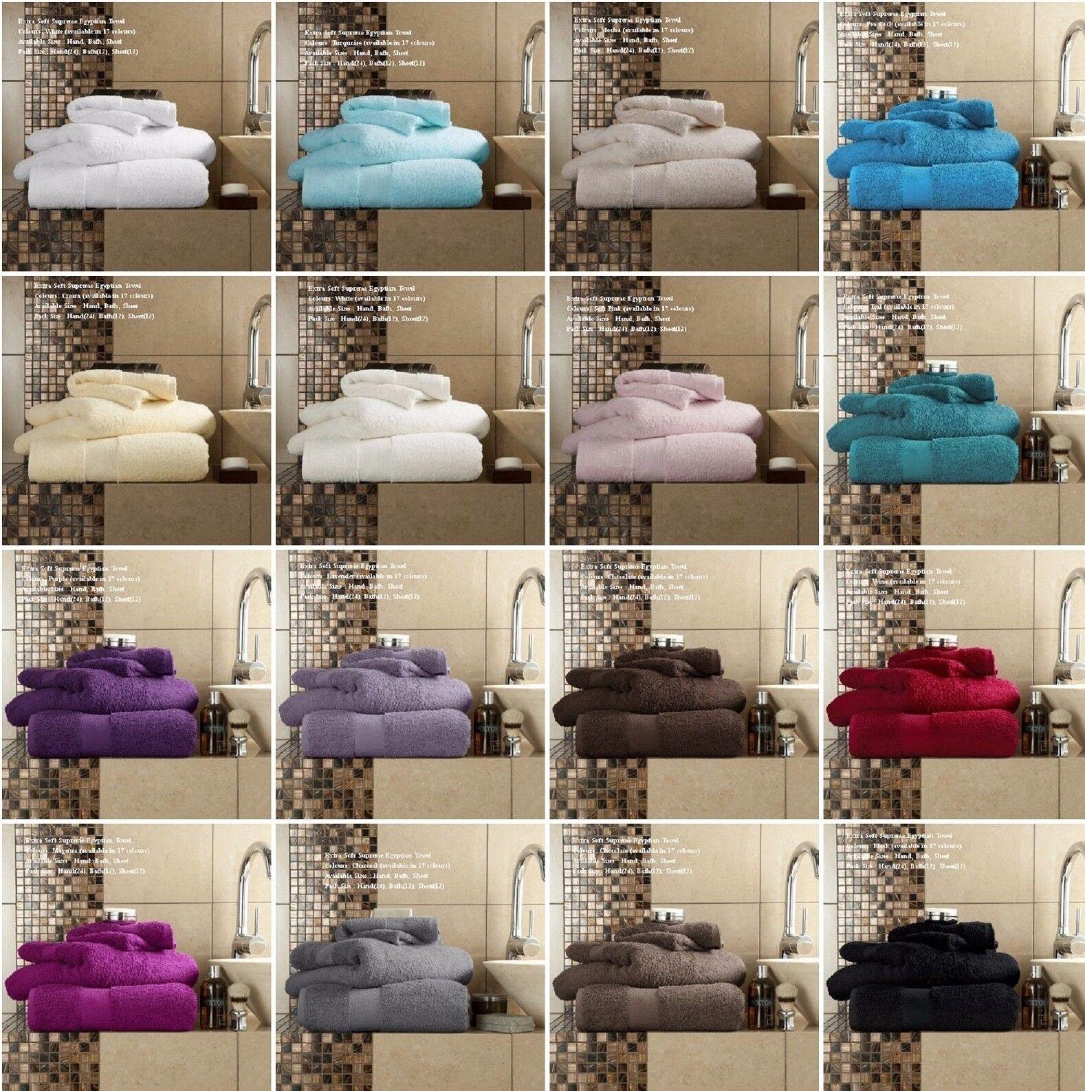Luxe en coton égyptien Miami Serviette 700 Gsm Main serviettes de bain & Bath Sheets Bale Set