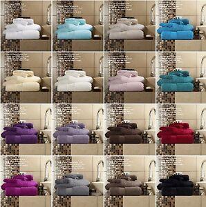 Intelligent Luxe En Coton égyptien Miami Serviette 700 Gsm Main Serviettes De Bain & Bath Sheets Bale Set-afficher Le Titre D'origine
