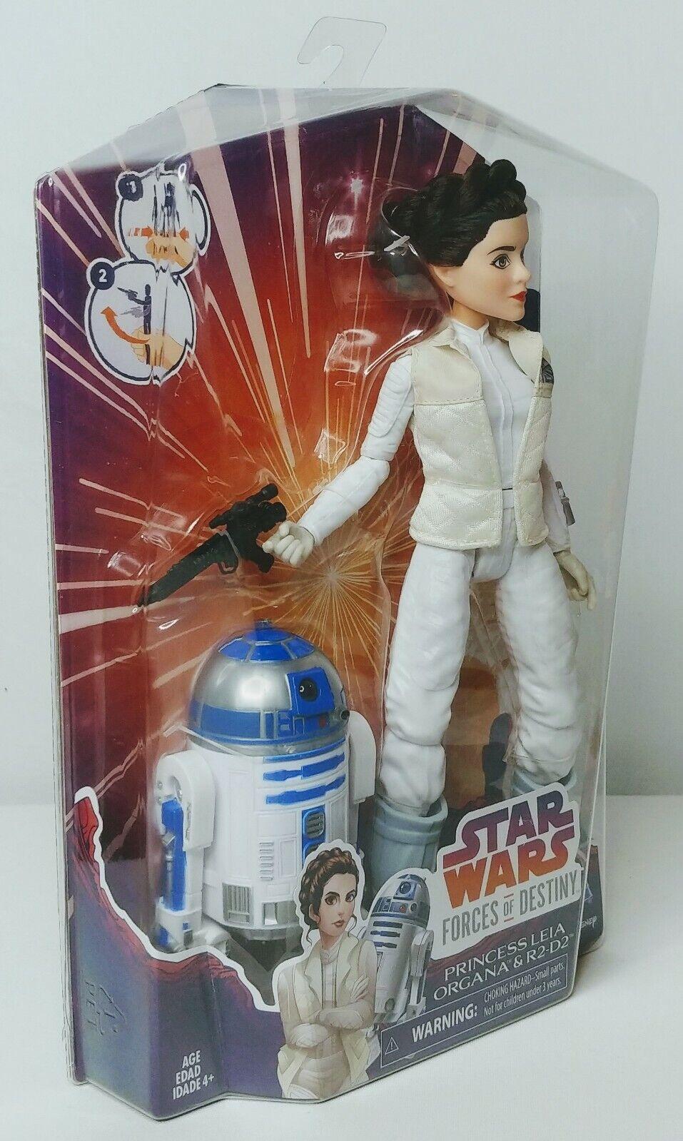 Star Wars Forces of Destiny  11    PRINCESS LEIA & R2-D2 ACTION FIGURE DOLL SET c19489