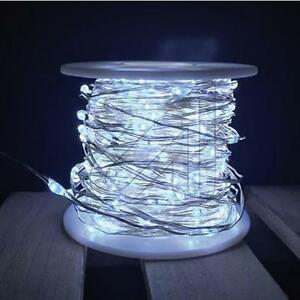 LED-Light-Chain-Micro-Fairy-20-M-400-600-LEDs-Metal-Wire-Continuous
