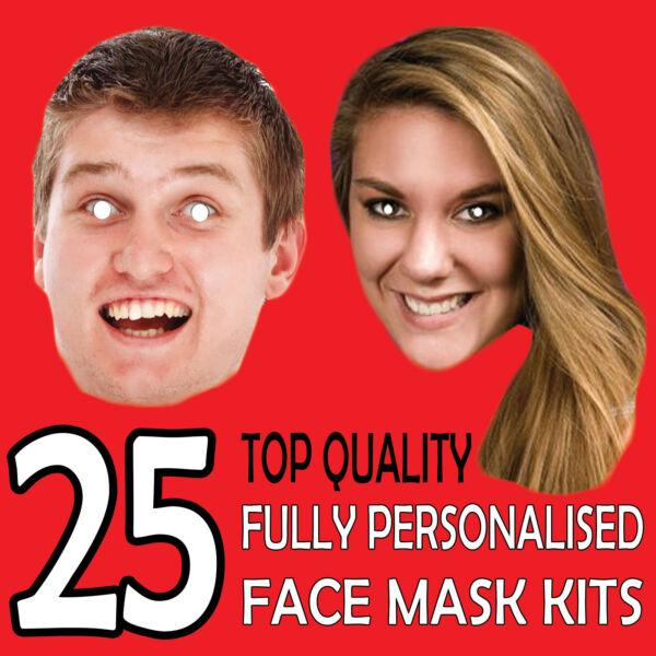 25 Personalizzato Maschera Kit Inviaci Una Immagine Foto E We Will Stampa X