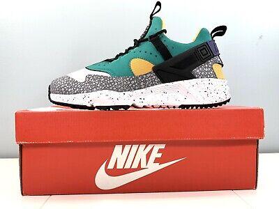 Nike Air Huarache Utility Premium White Black Green 806979-103 Men Size 8   eBay