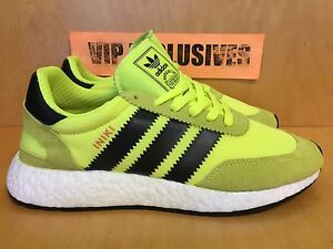 Adidas Iniki Runner Solar Neon Yellow Black Volt BB2094 IN HAND--SHIPPING NOW!