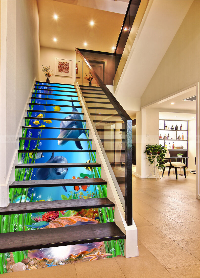 3D Magic Seabed 191 Stair Risers Decoration Photo Mural Vinyl Decal Wallpaper AU