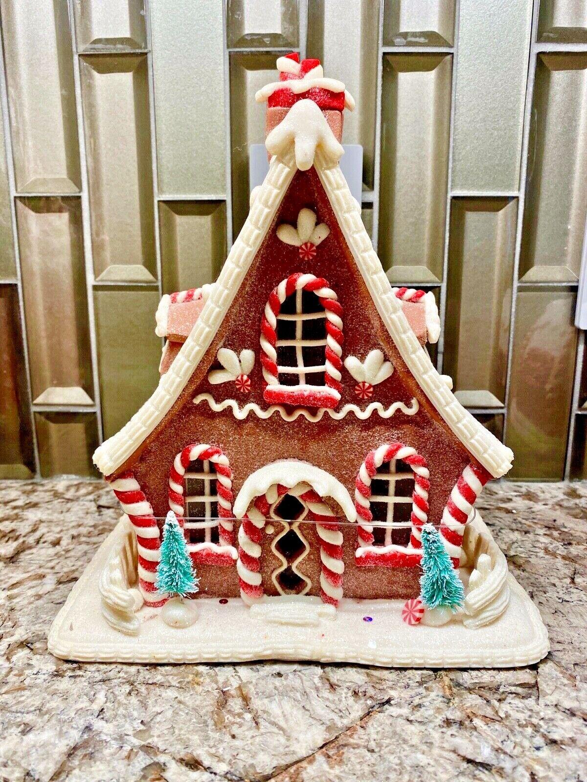 Raz 7 25 Led Lighted Claydough Gingerbread House Christmas Figure