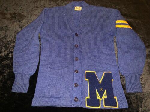 VTG 1950's Princeton Varsity Letterman Wool Cardig