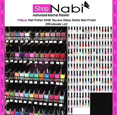 108pcs Nail Polish NABI Square Glass Bottle Nail Polish(Wholesale Lot)