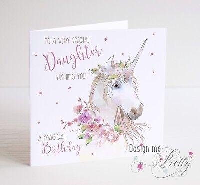 personalised Birthday card Black pink daughter granddaughter sister niece