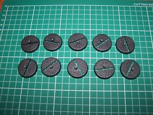 10 32 Mm Games Workshop Socle Bases (bits)-afficher Le Titre D'origine