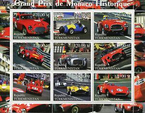 Turkménistan 2000 Neuf Sans Charnière Grand Prix Gp De Monaco F1 Formule 1 9 V M/s Voitures Timbres-afficher Le Titre D'origine 100% D'Origine