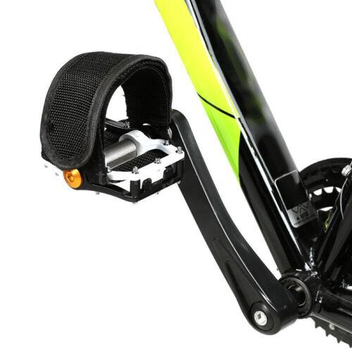 Black Anti-slip Fixed Pedal Strap Bike Bicycle Foot Pedal Straps Toe Clips Nylon