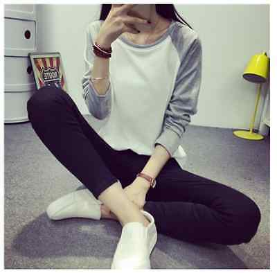 New Women's Loose Long Sleeve Cotton Casual Blouse Shirt Tops Fashion T-shirt