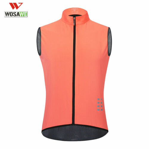 Men/'s Reflective Vest Sleeveless Cycling Jersey Bike Breathable Bicycle Gilet