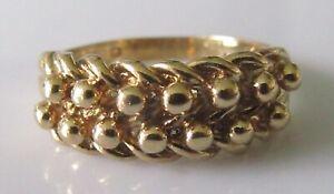 Anillo De Oro 9ct-Oro amarillo 9ct Tamaño del Anillo de custodio o 1/2 (4.3g)