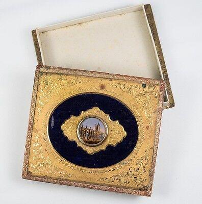 C.1830-60 Professional Sale Antique French Grand Tour Eglomise Box For Chocolates Bonbons