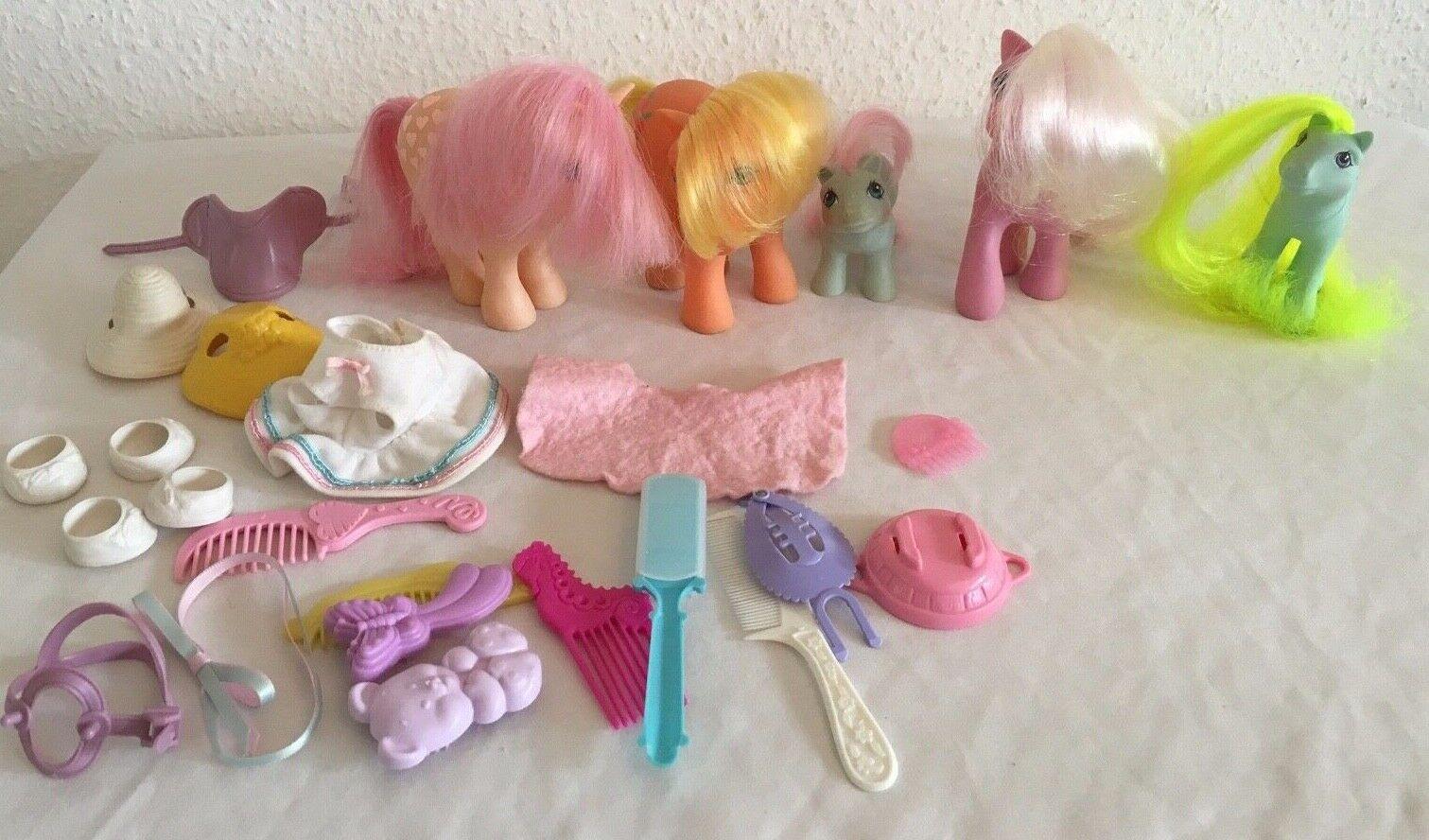 My Little Pony Vintage Hasbro G1 Bundle x 5 & Accessories
